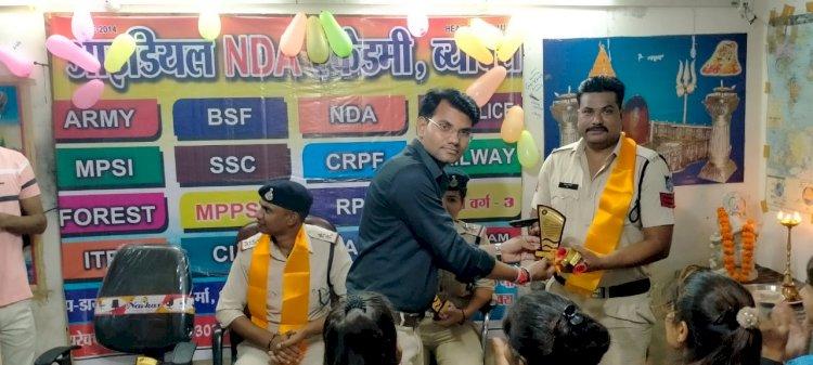 ब्यावरा :आइडियल एनडीए एकेडमी पर युवाओं को कैरियर मार्गदर्शन के साथ  शिक्षक दिवस मनाया गया